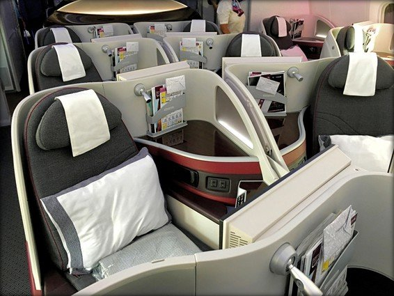 Qatar Airways Business Class 787 Cabin