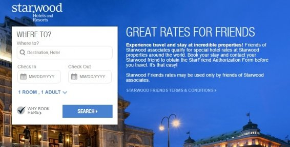 Do Starwood Friends and Family Rates always save you money on your hotel booking?