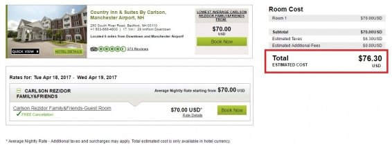 Do Carlson Friends and Family Rates always save you money on your hotel booking?