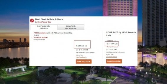 Updated IHG Corporate Rate Code List for October 2016