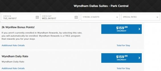 Updated Wyndham Corporate Rate Code List for November 2016