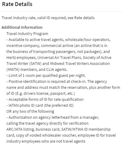 Marriott Travel Agent Rates