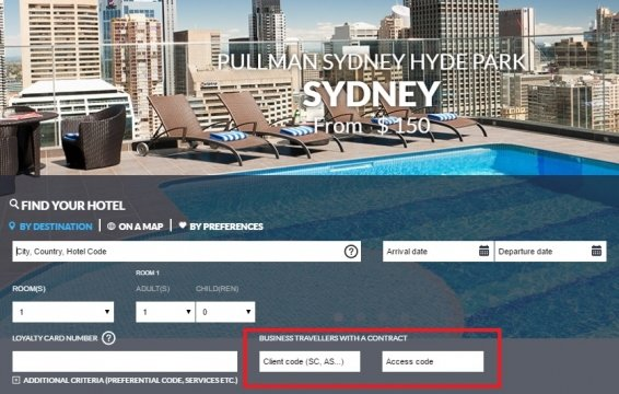 Updated AccorHotels Corporate Rate Code List for November 2016