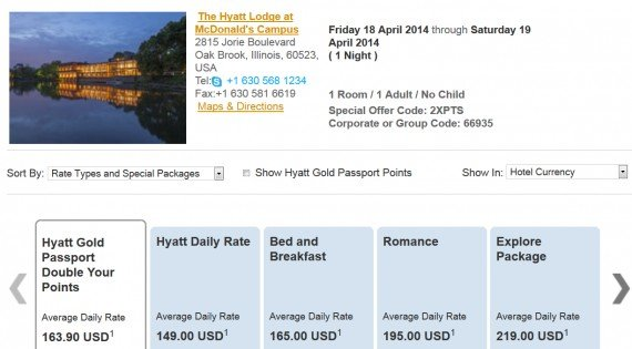 Double Hyatt Gold Passport points with this new Hyatt rate
