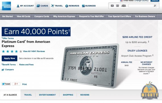 Review: American Express Platinum credit card – earn 40,000 points at sign-Up