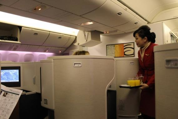 Cathay Pacific Review Business Class New York, JFK to Hong Kong, HKG – CX845