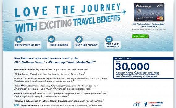 Review: Citi Platinum Select / AAdvantage World MasterCard