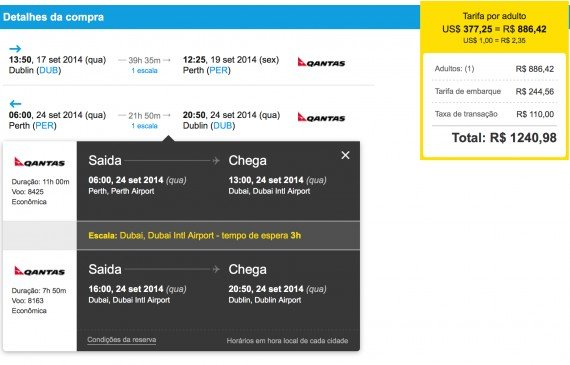 Mistake/ Error Fare - Dublin - Perth just $526.72 on Emirates