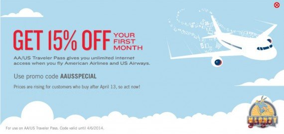 15% off Gogo Coupon for unlimited inflight internet – code AAUSSPECIAL