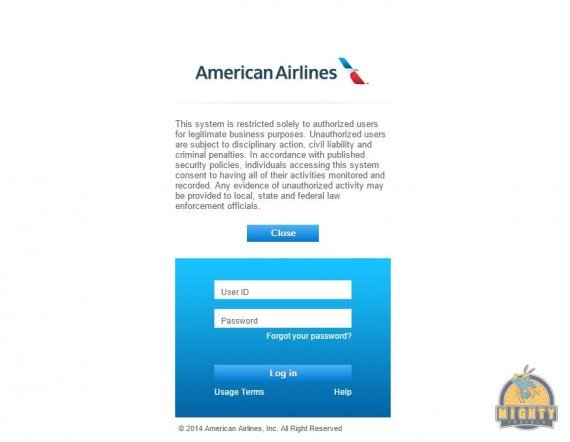 jetnet.aa.com access for American Airlines employees