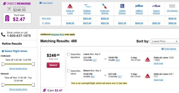 Airfare Deal – from Charlotte to Seattle $246 on Delta Air Lines