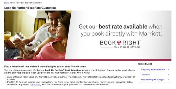 How to file a Marriott Best Rate Guarantee claim (Look No Further claim)