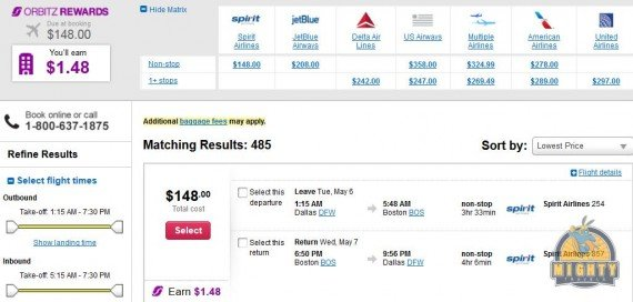 Airfare Deal – from Dallas to Boston $148 on Spirit Airlines