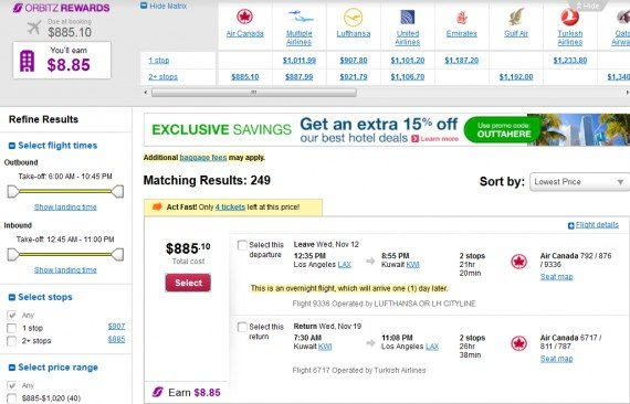Airfare Deal – from Los Angeles to Kuwait $885