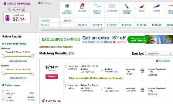 Airfare Deal – from Las Vegas to Frankfurt $714