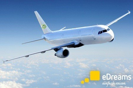 $55 cashback on flight bookings on edreams.de