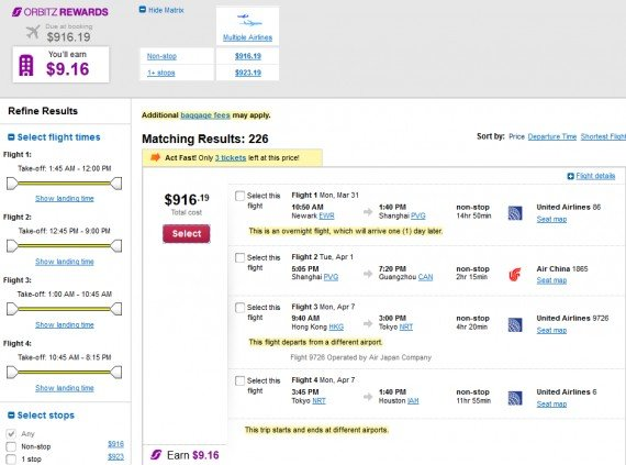 Airfare Deal – from Newark to Guangzhou, China $916 on United Airlines