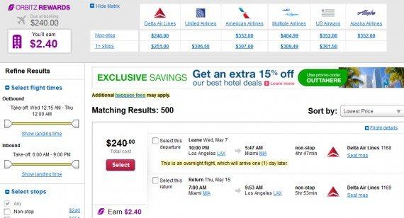 Airfare Deal – from Los Angeles to Miami $240 on Delta Air Lines