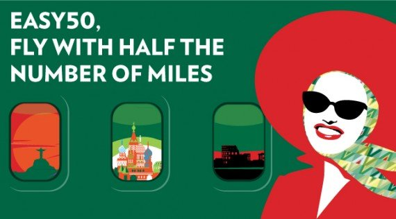 50% less miles for Alitalia award flights