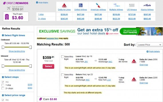 Airfare Deal – from New York to Anchorage $360