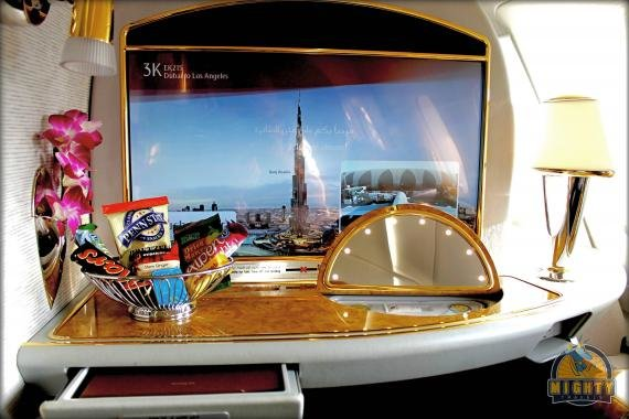 Emirates First Class A380 Review Dubai (DXB) to Los Angeles (LAX) EK215