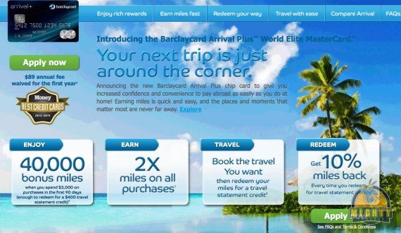 Review: Barclaycard Arrival Plus™ World Elite MasterCard® – Earn 2x on All Purchases