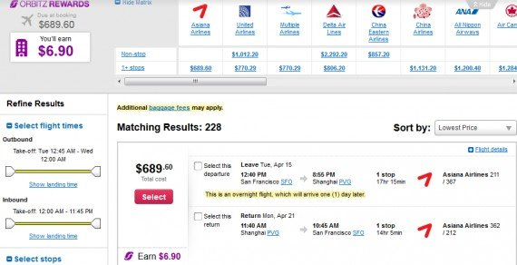 Airfare Deal – from San Francisco to Shanghai $689 on Asiana Airlines