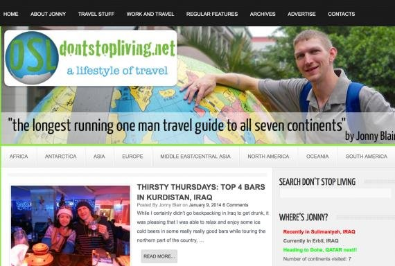 Interview with Jonny Blair at dontstopliving.net