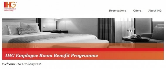 IHG employee rate – You can save big with the Employee Room Benefit Programme