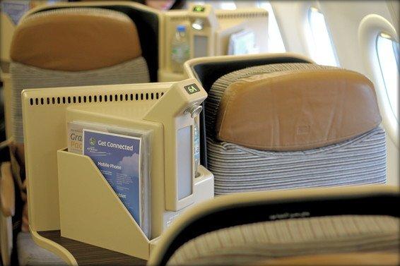 Etihad Business Class Review (London – Abu Dhabi A340)