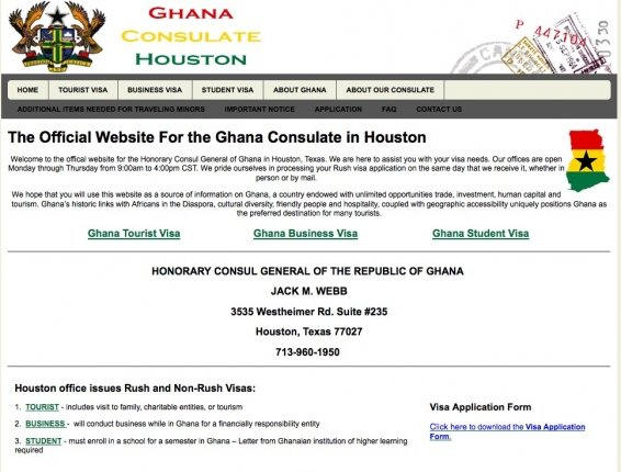 My experience getting a Ghana visa – How to apply