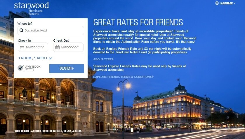 Do Starwood Starfriend rates always save you money on your hotel booking?