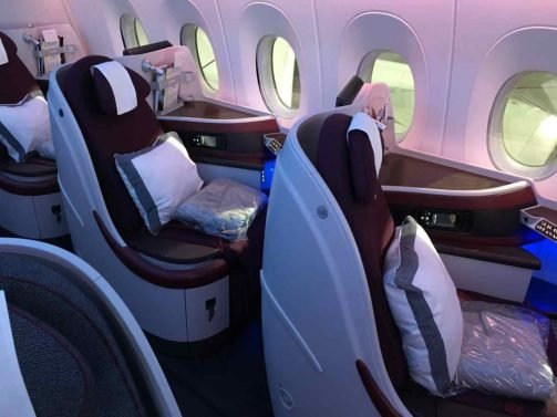 Qatar Business Class Review Doha (DOH) to Philadelphia (PHL) A350