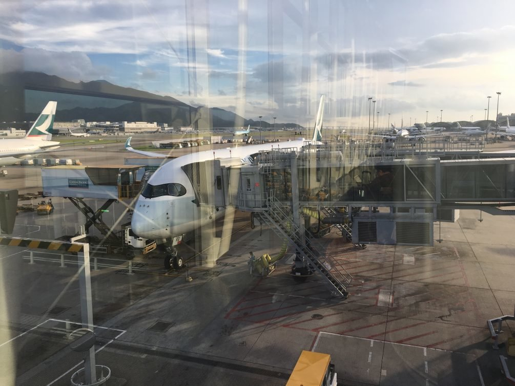 Cathay Pacific Economy Review Cebu (CEB) to Hong Kong (HKG) A330, Plaza Premium Lounge Cebu Review and Cathay Pacific Economy Review Hong Kong (HKG) to San Francisco (SFO) A359