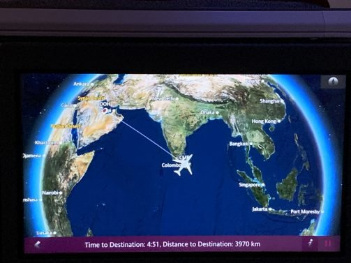 Qatar/LATAM A359 Business Class Review Colombo (CMB) to Doha (DOH)